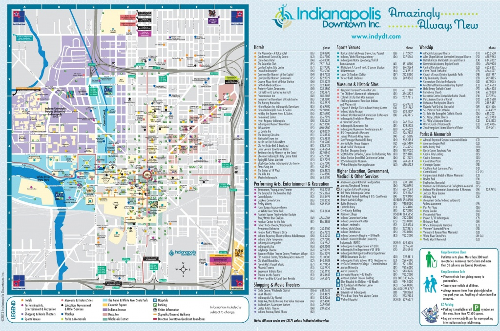 Downtown Indianapolis Map - Map Of Downtown Indianapolis (Indiana - Usa) - Downtown Indianapolis Map Printable