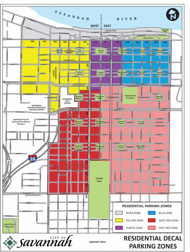 Printable Map Of Savannah