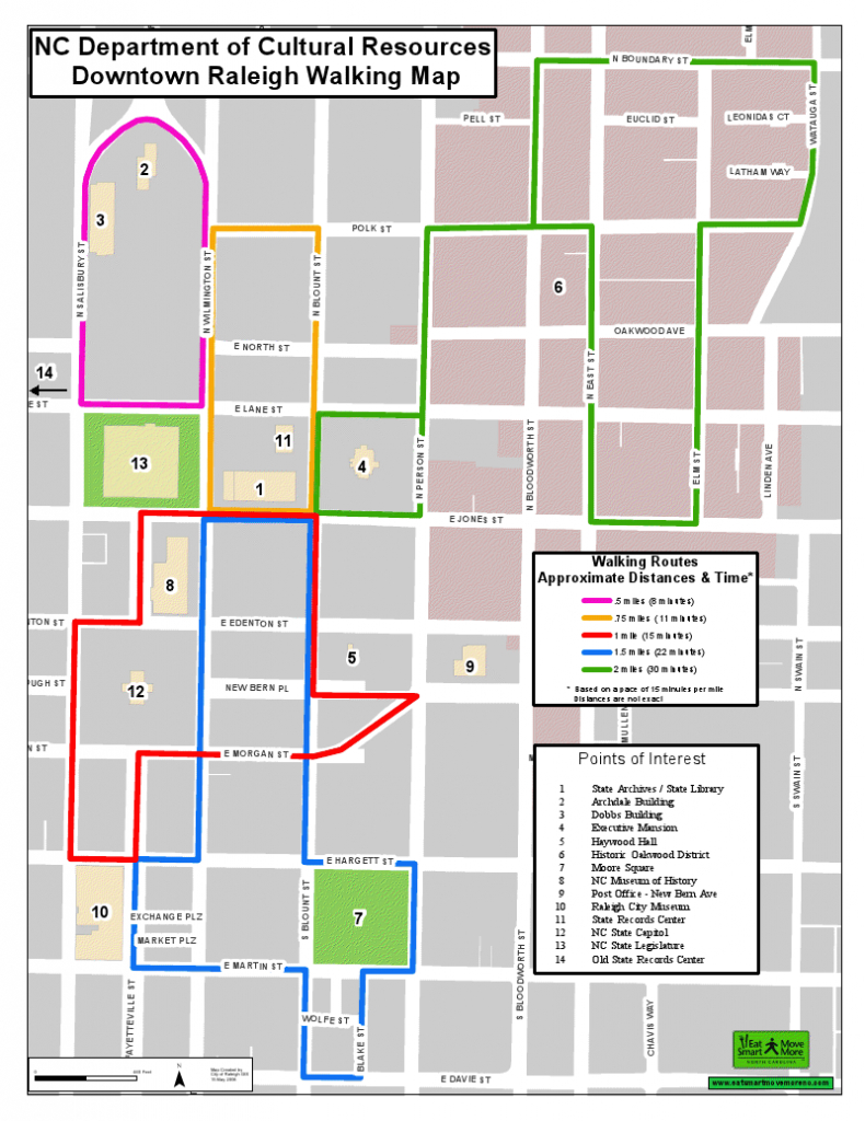 Downtown Raleigh Walking Map. Want To See More Creative - Printable Map Of Downtown Raleigh Nc