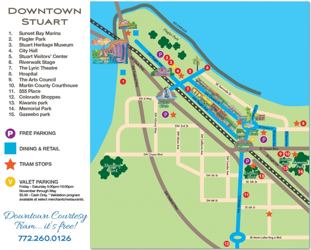 Downtown Stuart, Florida Map - Historic Downtown Stuarthistoric - Google Maps Stuart Florida