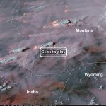 Dramatic Satellite Video Shows Fire And Smoke From Roaring Blazes   Live Satellite Map California