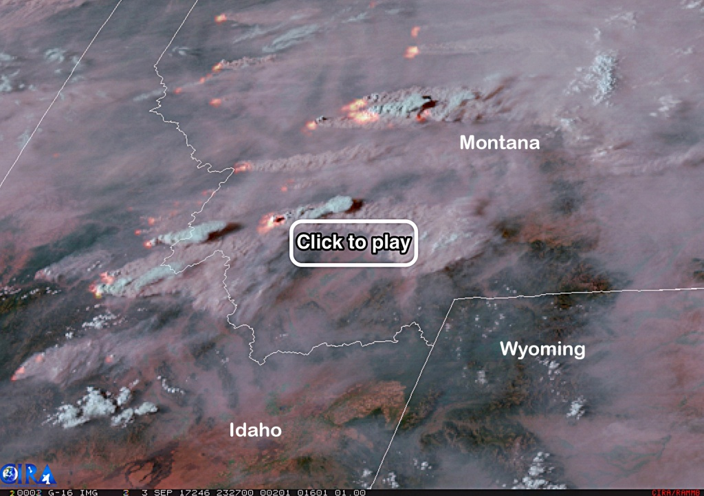 Dramatic Satellite Video Shows Fire And Smoke From Roaring Blazes - Live Satellite Map California