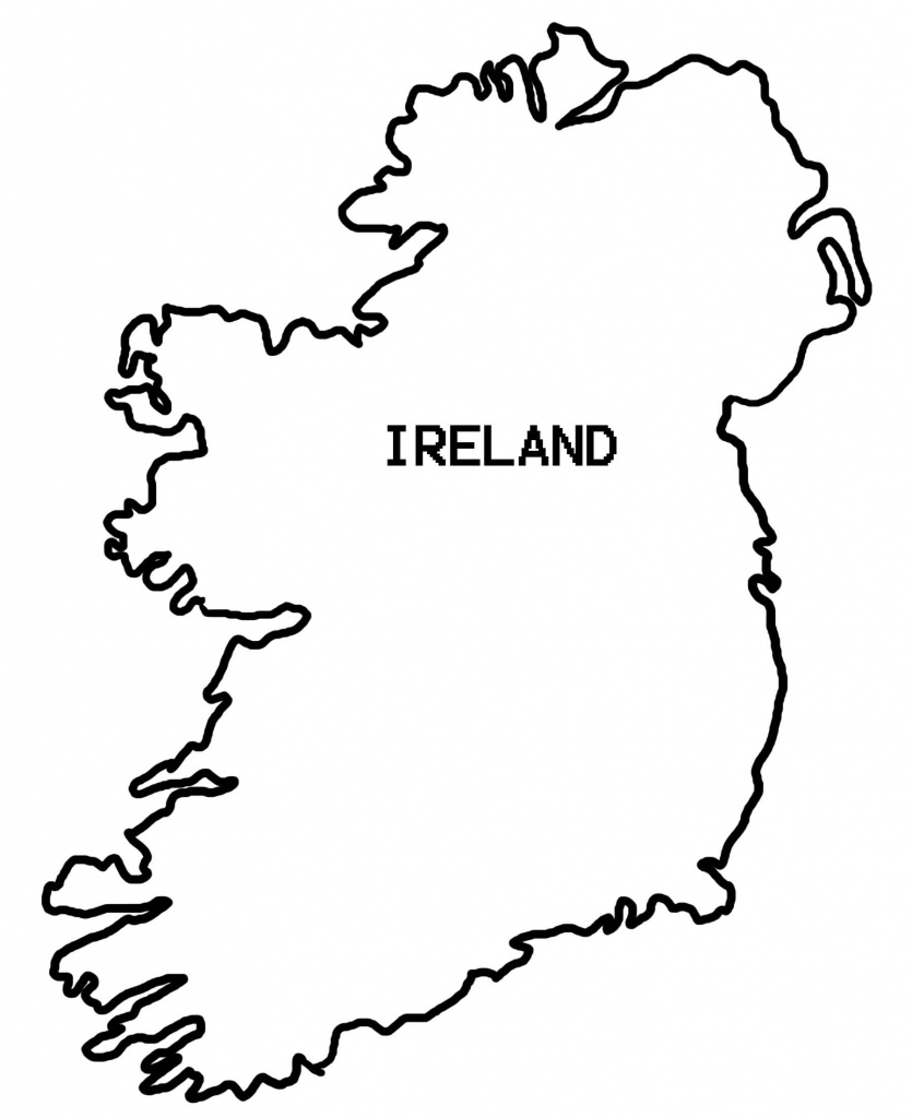 Drawing Ireland Map Outline 52 For Your Free Online With Ireland Map - Printable Blank Map Of Ireland