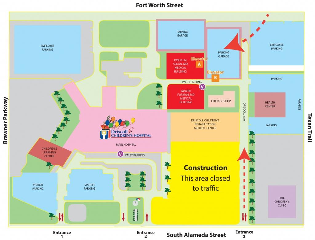 Driscoll Children's Hospital – Main Campus   Driscoll Children's - Texas Children's Hospital Map