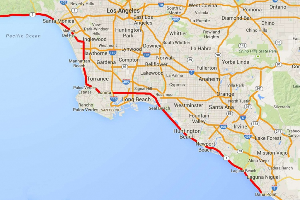 Drive The Pacific Coast Highway In Southern California - Dana Point California Map