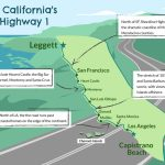 Driving California's Scenic Highway One   Highway One California Map