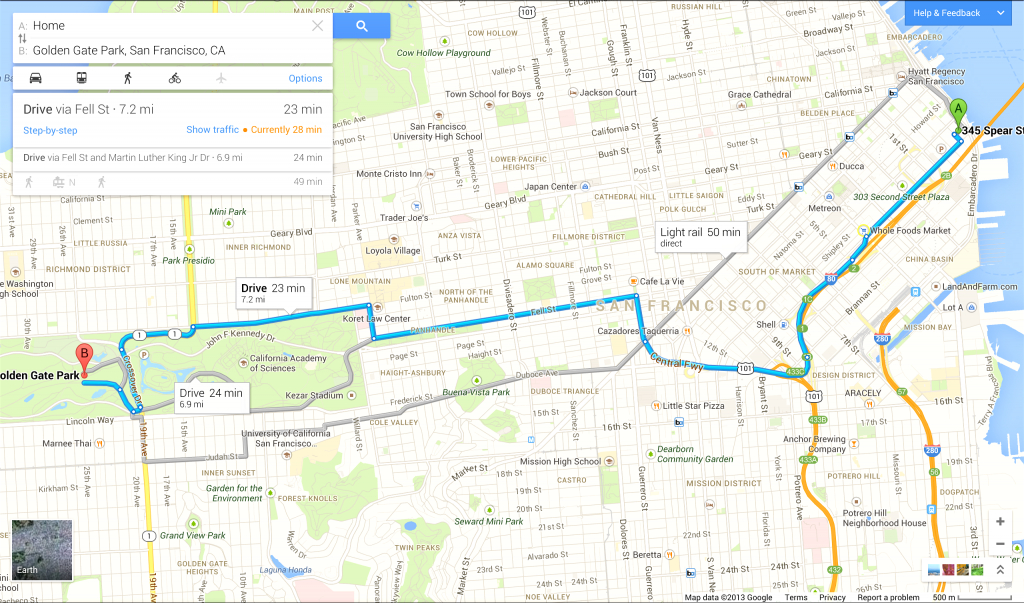Driving Directions On Google Map - Capitalsource - Printable Driving Directions Map