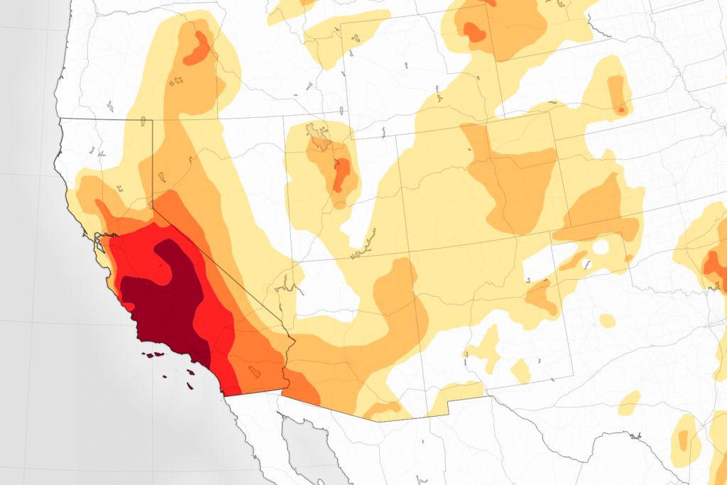 Drought Continues To Grip Southern California - Southern California Heat Map