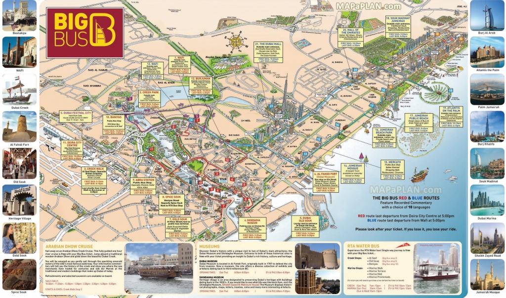 Dubai Maps – Top Tourist Attractions – Free, Printable City Street - Free Printable City Street Maps