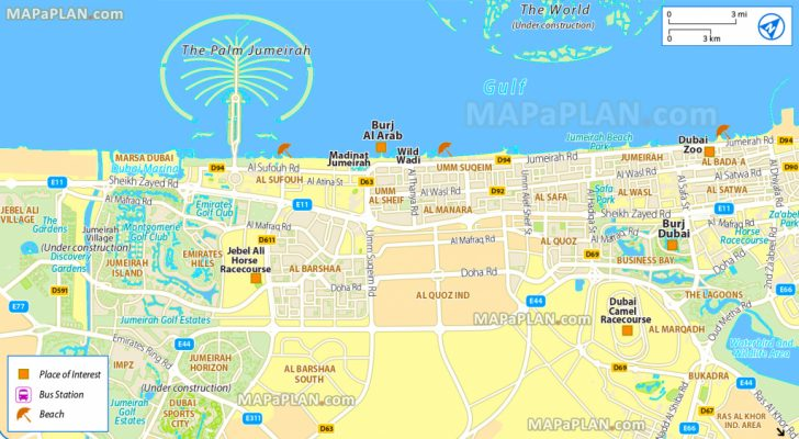 Dubai Tourist Map Printable