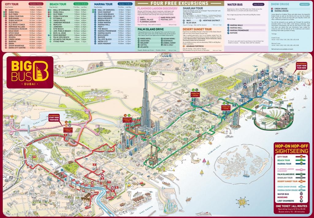 Dubai Tourist Attractions Map - Printable Map Of Dubai