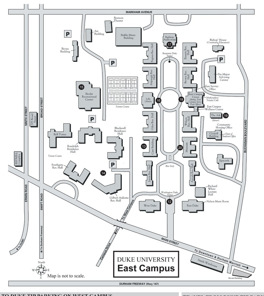 Duke Campus Map Pdf | Europeancytokinesociety - Duke University Campus Map Printable