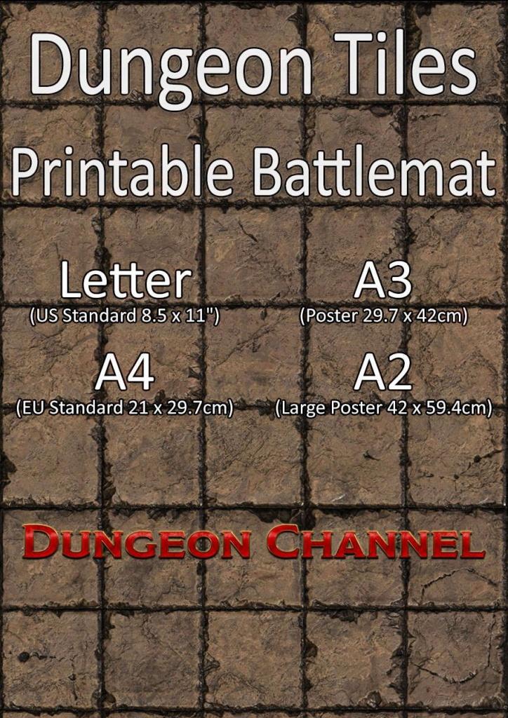 Dungeon Tiles Printable Battlemat Channel Drivethrurpg   Dungeons - Printable D&d Map Tiles
