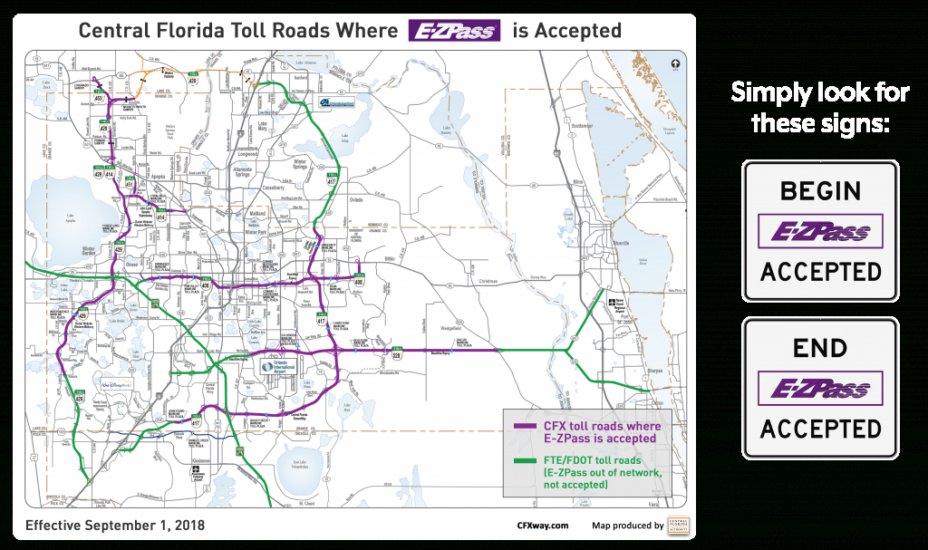 E-Zpass Accepted On Our Roads | Central Florida Expressway Authority - Road Map To Orlando Florida