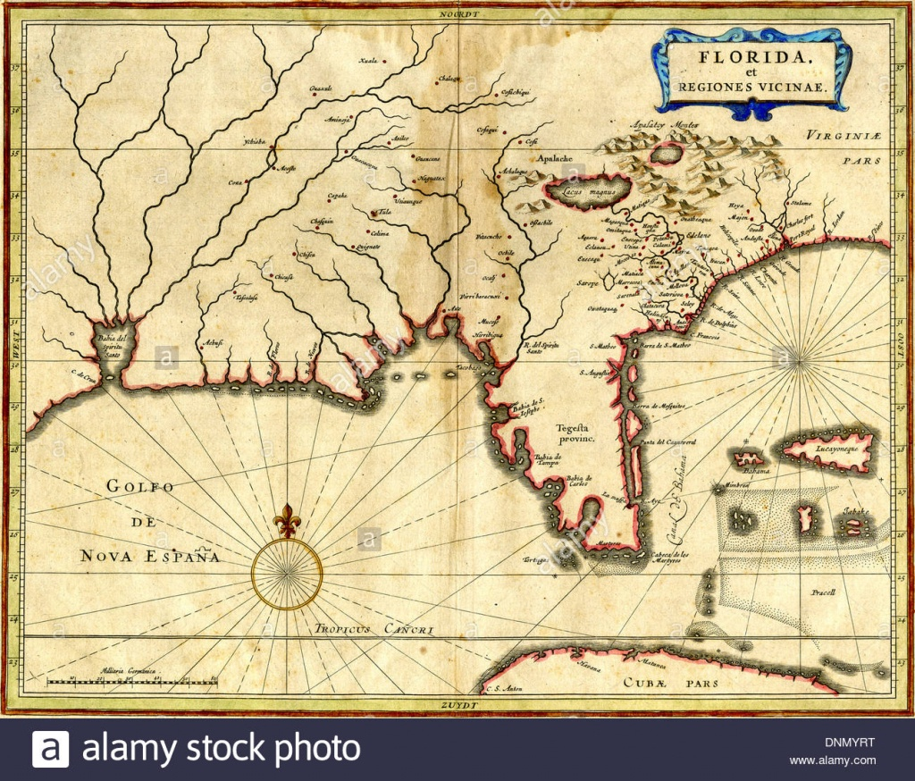 Early Florida Maps Stock Photos & Early Florida Maps Stock Images - Early Florida Maps