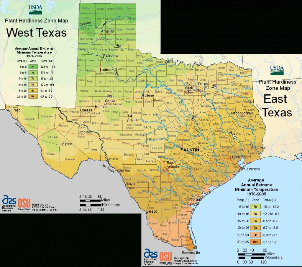 Earth-Kind Plant Selector - Texas Garden Zone Map