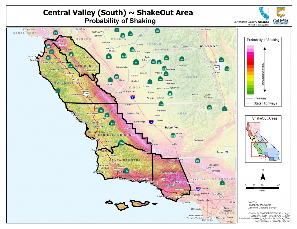 Earthquake Country Alliance: Welcome To Earthquake Country! - Central Coast California Map