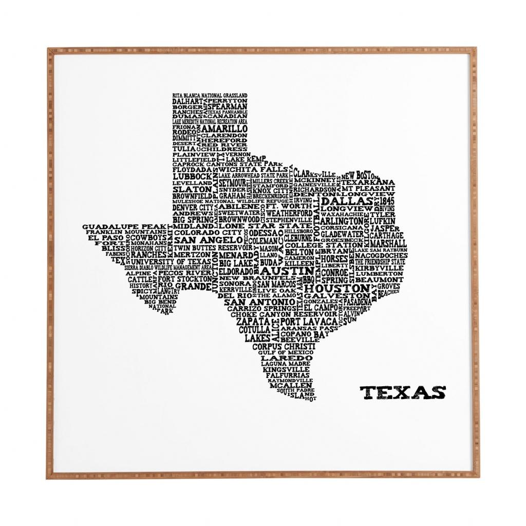 East Urban Home 'texas Map' Framed Graphic Art & Reviews | Wayfair - Texas Map Artwork
