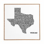 East Urban Home 'texas Map' Framed Graphic Art & Reviews | Wayfair   Texas Map Framed Art