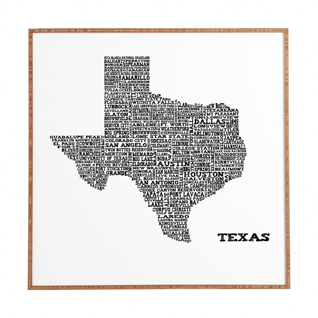 East Urban Home 'texas Map' Framed Graphic Art & Reviews | Wayfair - Texas Map Framed Art