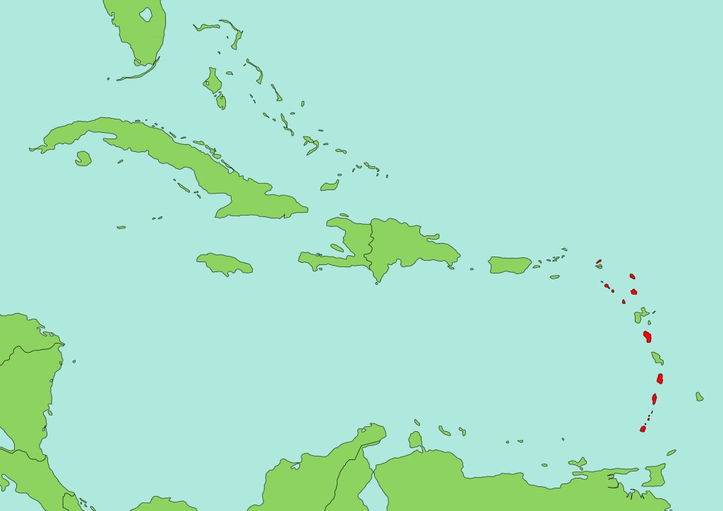 Eastern Caribbean Dollar - Wikipedia - Free Printable Map Of The Caribbean Islands