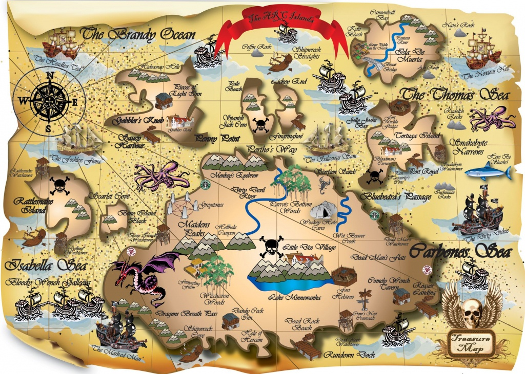 Easy Picture Of A Pirate Treasure Map 2 Printable My Blog | Map - Printable Pirate Maps To Print