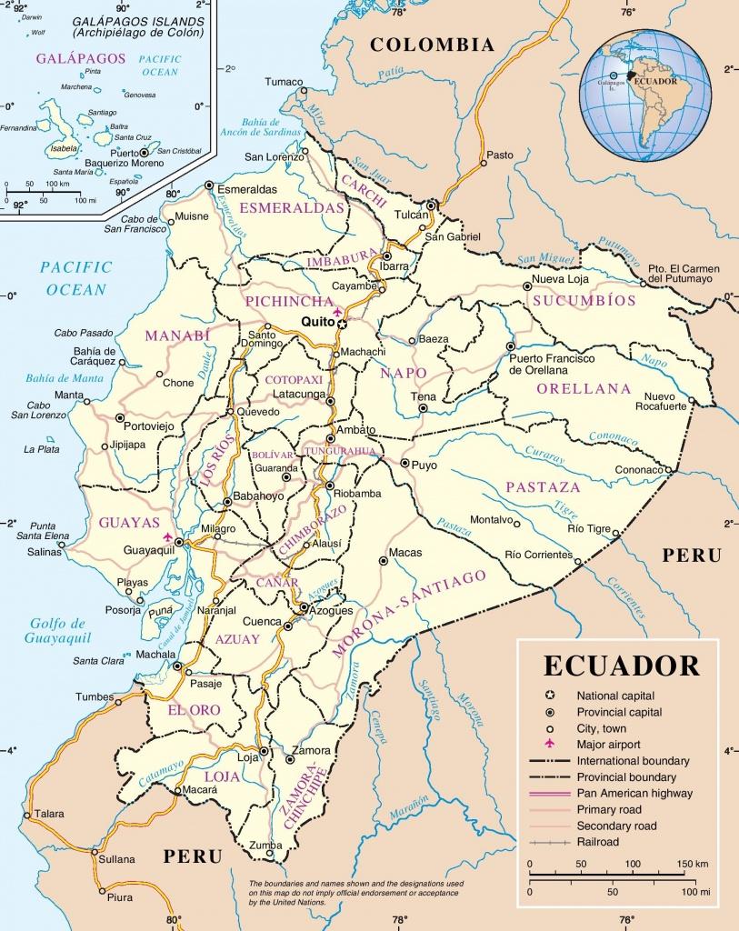 Ecuador Maps | Maps Of Ecuador - Printable Map Of Ecuador