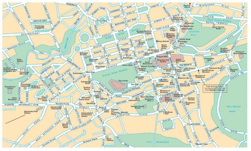 Edinburgh Street Map - Street Map Of Edinburgh (Scotland - Uk) - Edinburgh Street Map Printable