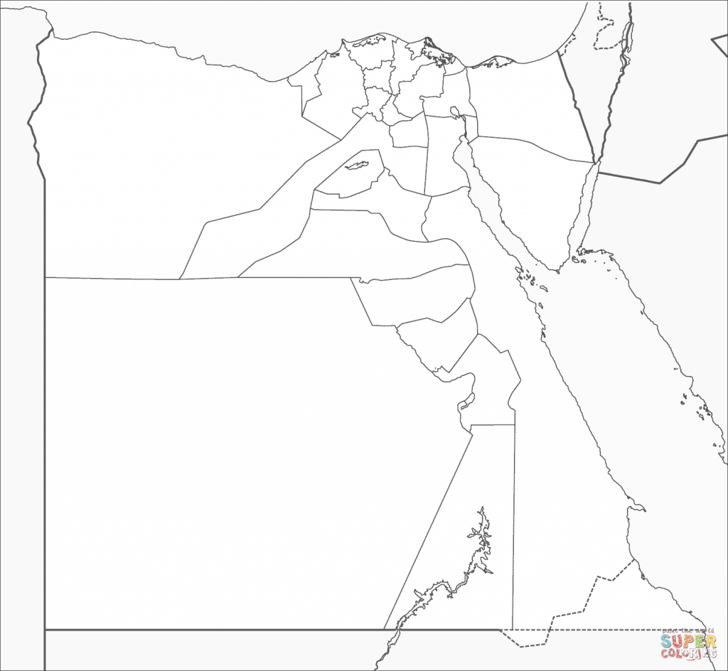 Egypt Map Coloring Page   Free Printable Coloring Pages - Printable Map Of Egypt