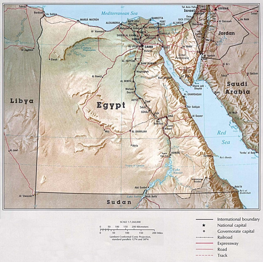 Egypt Maps   Printable Maps Of Egypt For Download - Printable Map Of Egypt