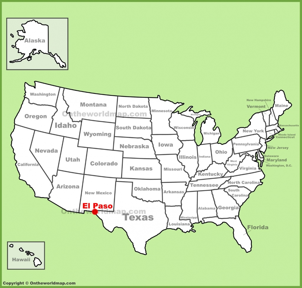 El Paso Location On The U.s. Map - Where Is El Paso Texas On The Map