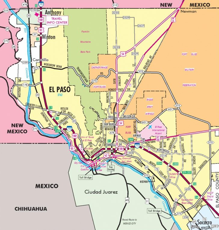 Where Is El Paso Texas On The Map