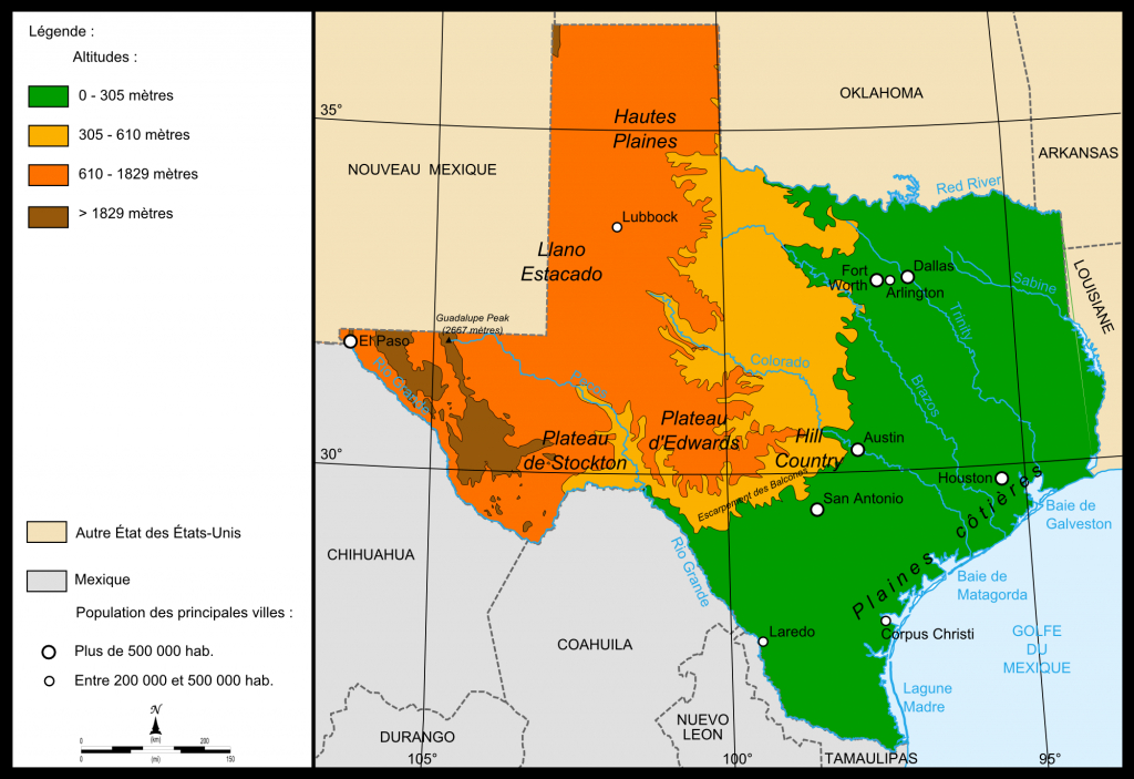 Elevation Map Of Texas   Kristen   Map, Texas, Diagram - Interactive Elevation Map Of Texas