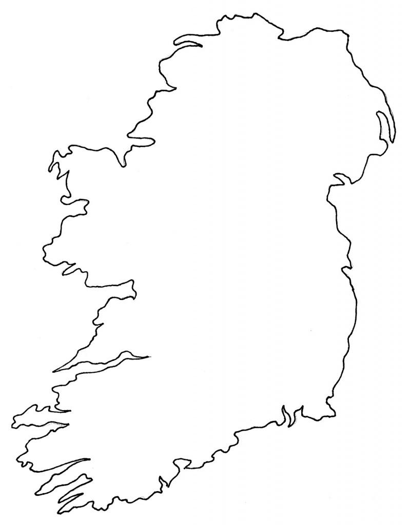 Empty Map Of Ireland - Printable Blank Map Of Ireland