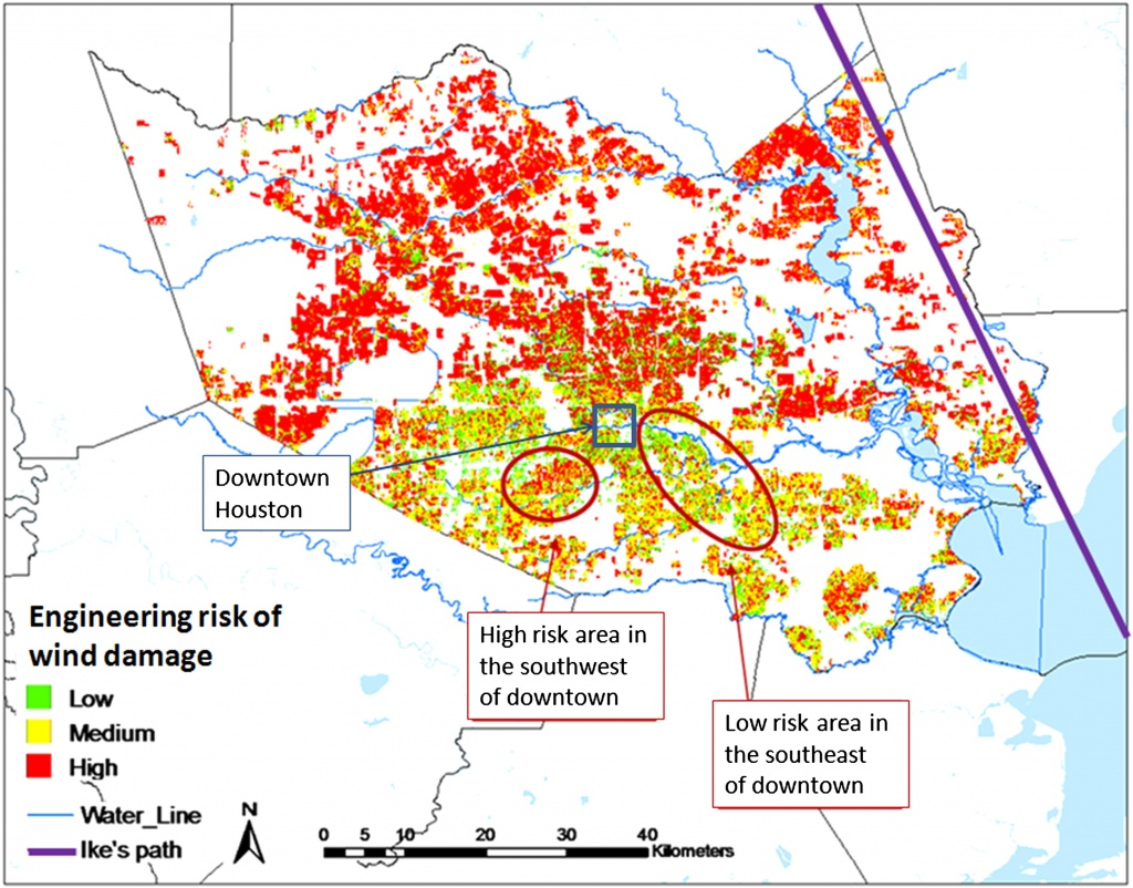 Engineering-Based Hurricane Risk Estimates And Comparison To - Texas Windstorm Map Harris County