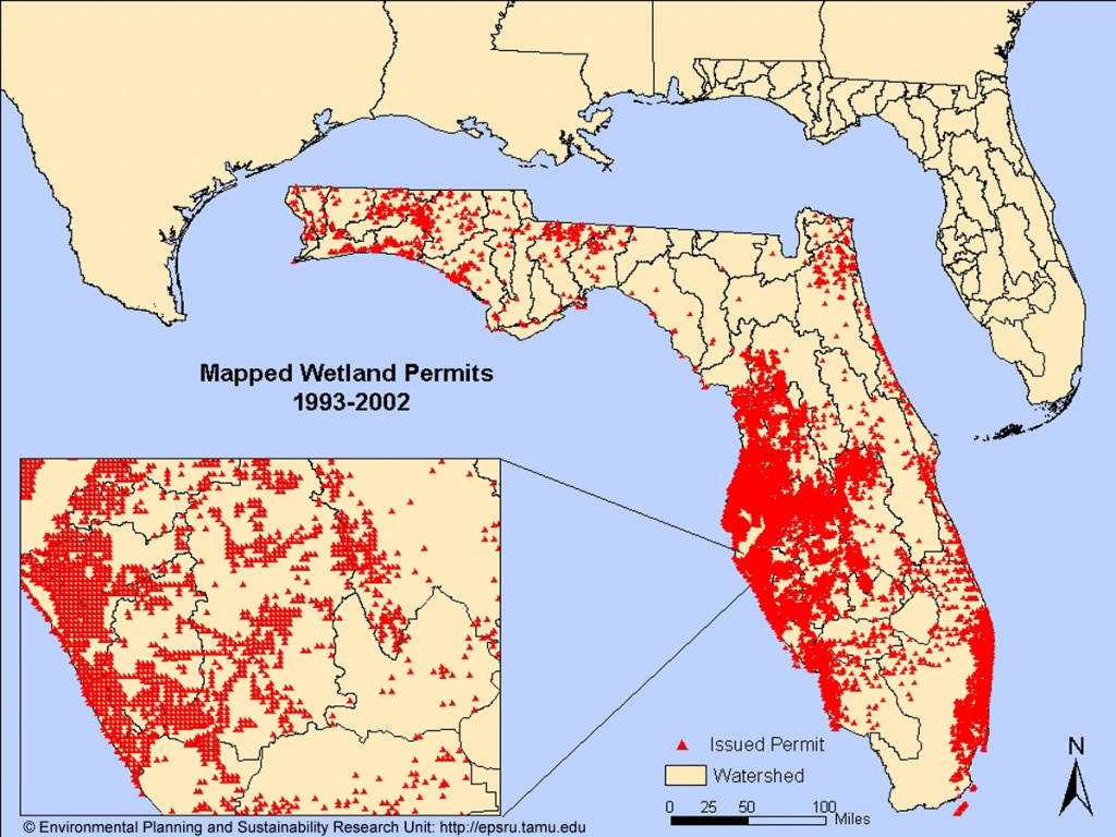 Environmental Research And Sustainability Laboratory - Florida Wetlands Map