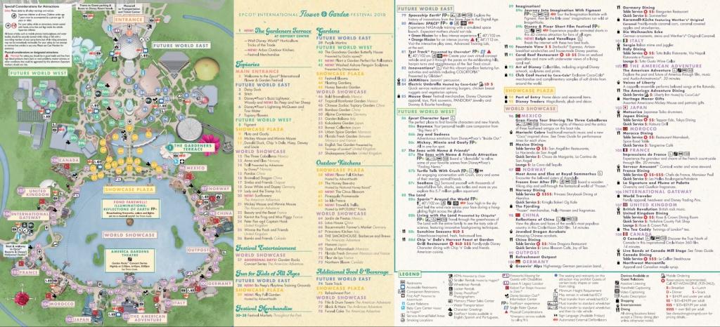 Epcot Flower & Garden Festival Map 2019 At Walt Disney World - Epcot Park Map Printable