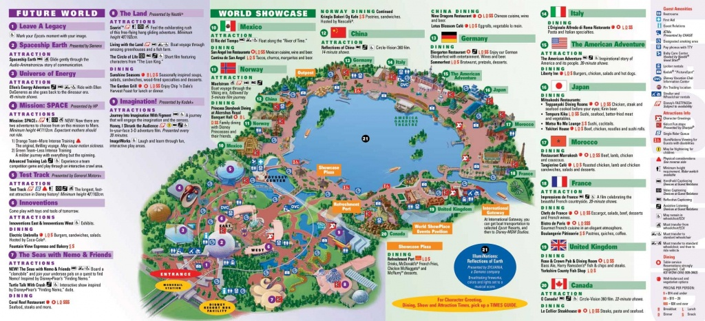 Epcot | Landscape | Epcot Map, Disney Map, Disney World Epcot Map - Epcot Park Map Printable