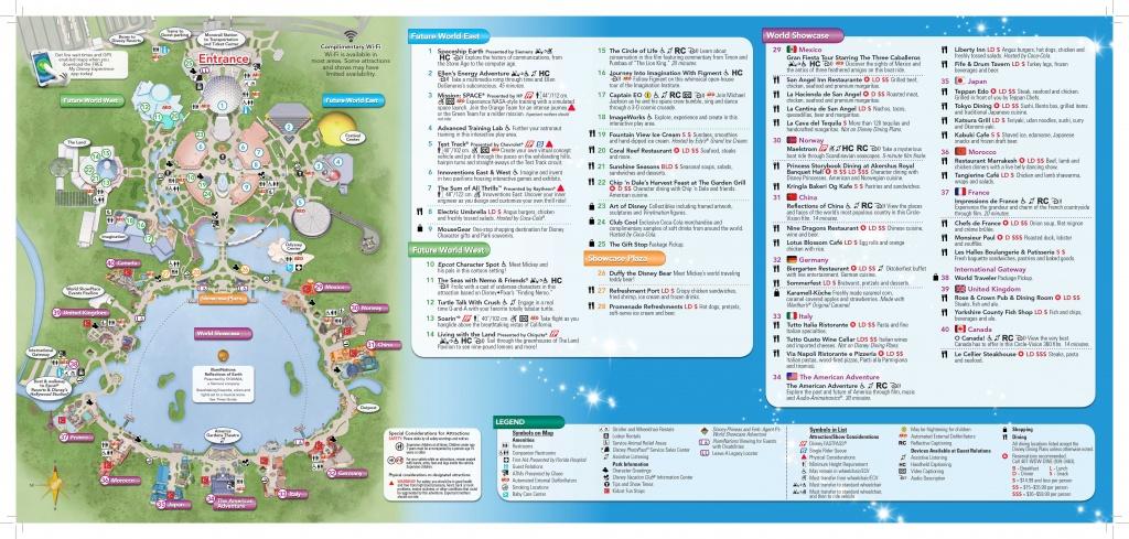 Epcot-Map-2 | Dis Blog - Epcot Park Map Printable