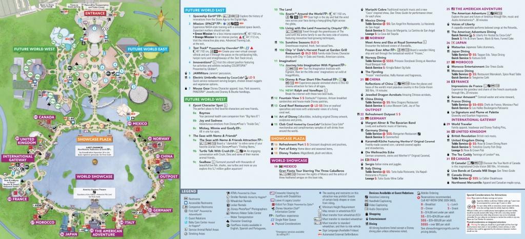 Epcot Map - Walt Disney World - Printable Map Of Epcot 2015