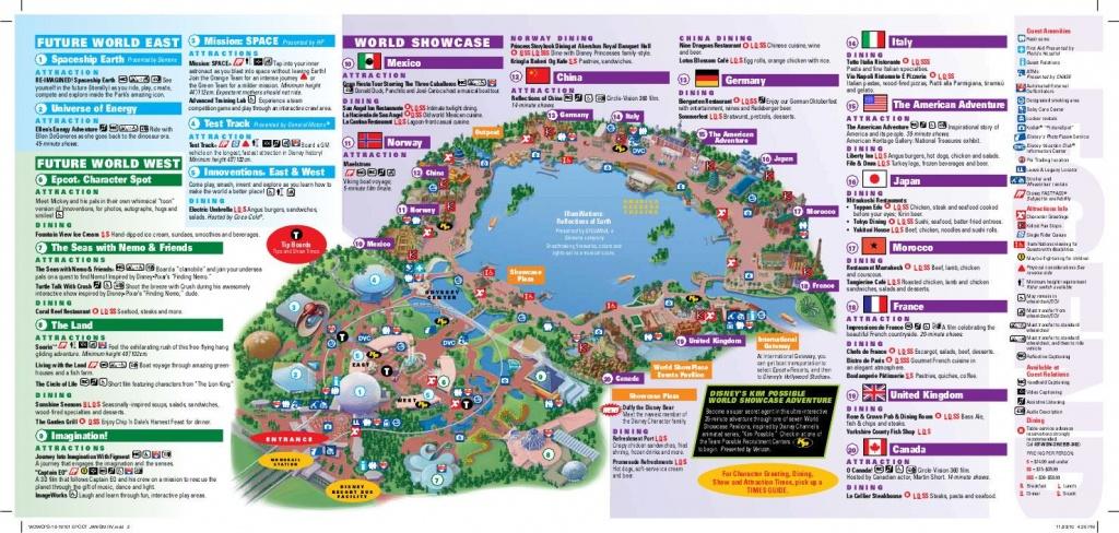 Epcot Map   Wdw -- Epcot   Disney World Map, Epcot Map, Disney Map - Printable Map Of Epcot 2015