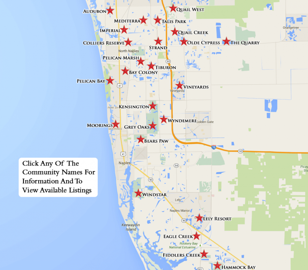 Equity Courses Map - Golf Courses In Naples Florida Map