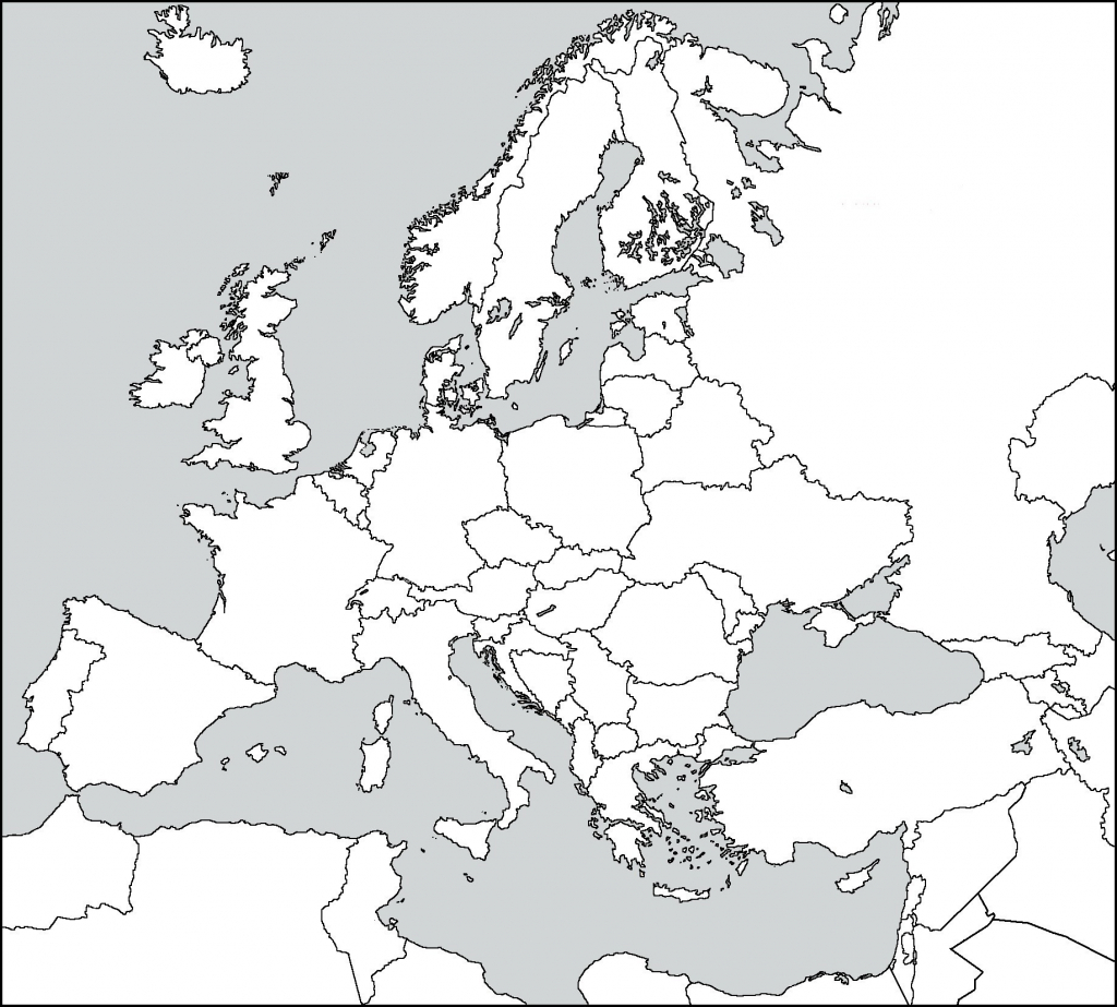 Europe Blank Map Worksheet - Maplewebandpc - Printable Blank Map Of Europe
