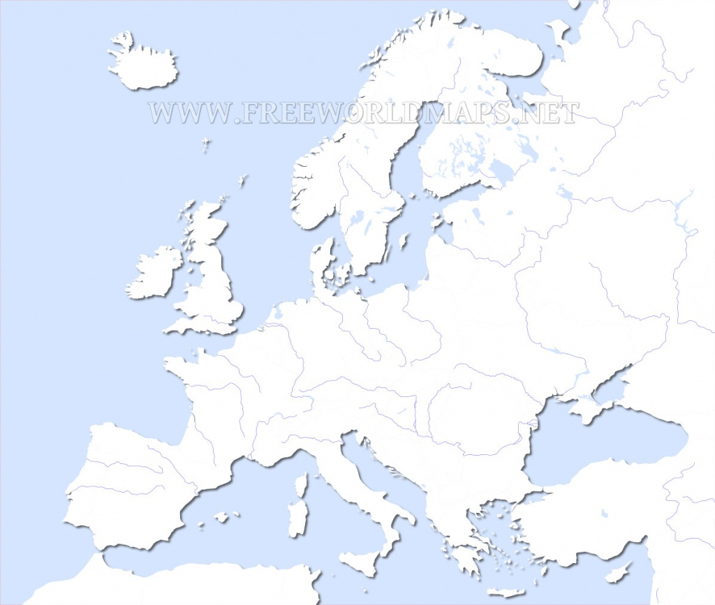 Europe Physical Map – Freeworldmaps - Printable Blank Physical Map Of Europe