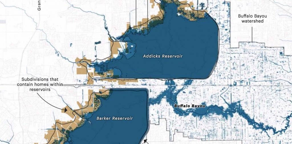 Everyone Knew Houston's Reservoirs Would Flood — Except For The - Barker Texas Map