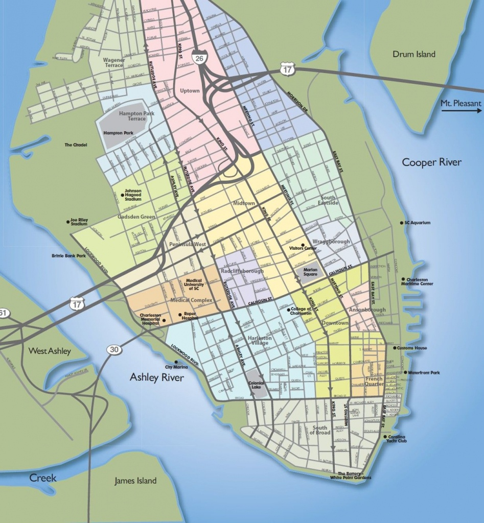 Example Of Poor Intellectual Hierarchy In A Map. | Maps Of - Printable Map Of Charleston Sc Historic District