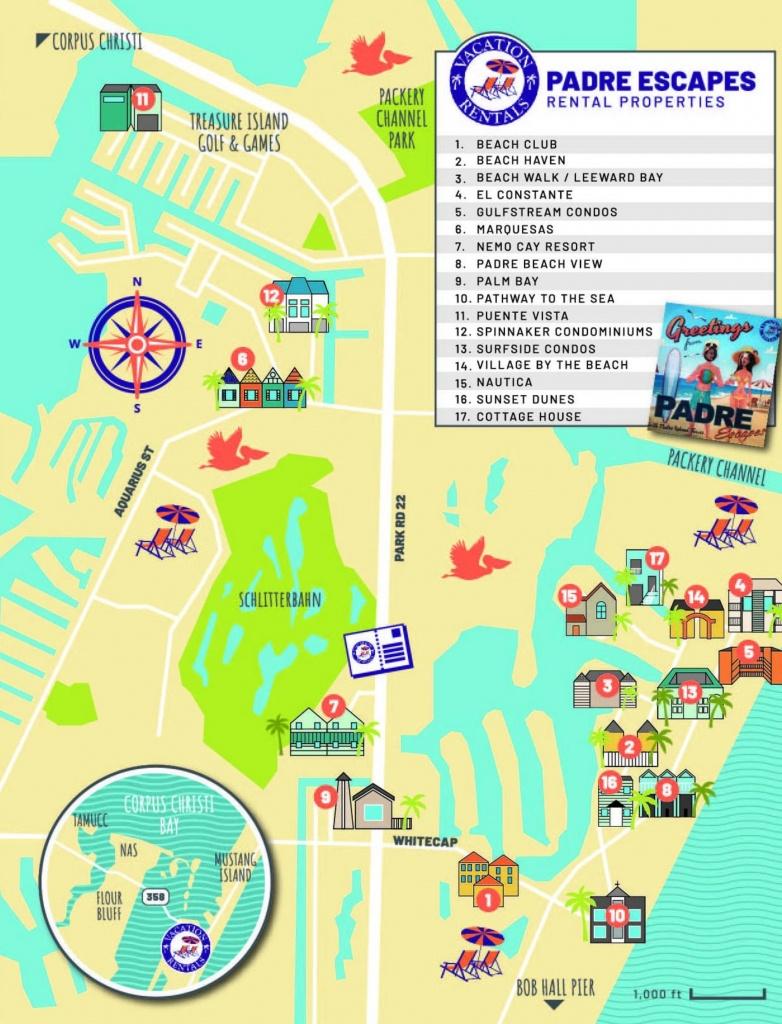 Explore North Padre Island | North Padre Island | Padre Escapes - Texas State Aquarium Map