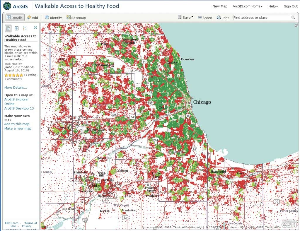Exploring Food Environments - Food Desert Map California