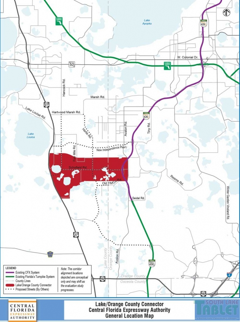 Expressway Authority To Discuss Extension From 429 To Highway 27 - Road Map Of Lake County Florida