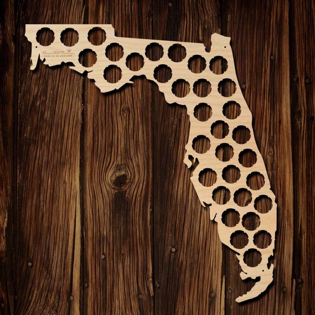 Fancy - Florida Beer Cap Map | Beer Thirty | Beer Caps, Beer, Beer - Florida Beer Cap Map